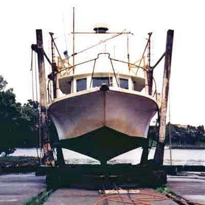 Bruce roberts trawler yacht 30 32 boat plan fine line for Garden design trawler boat